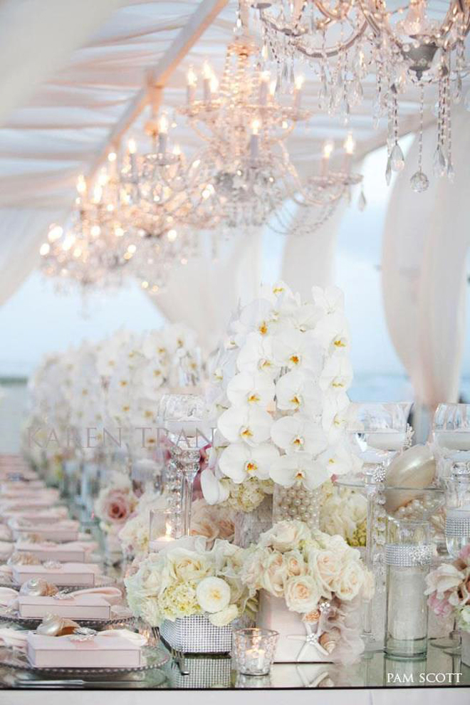 Wedding Reception Decoration : Long Tables