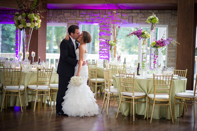 Classic Purple + Green Ballroom Wedding