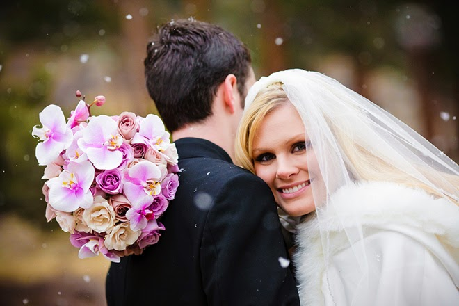 Whimsical Winter Wedding featuring Radiant Orchid