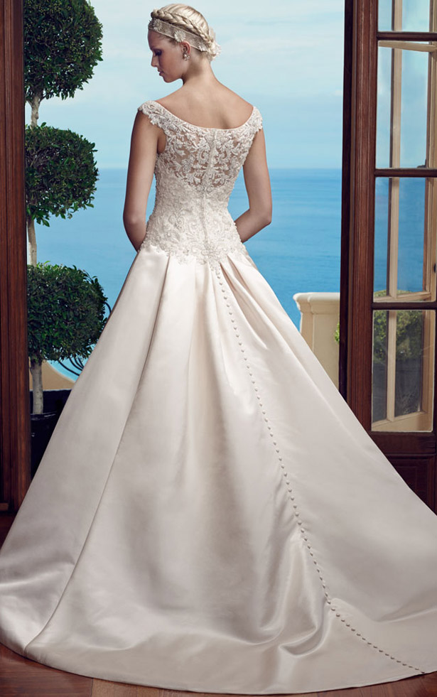 Casablanca Bridal Spring 2015  2184_Back