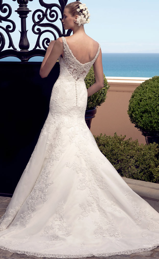 Casablanca Bridal Spring 2015 2190_Back