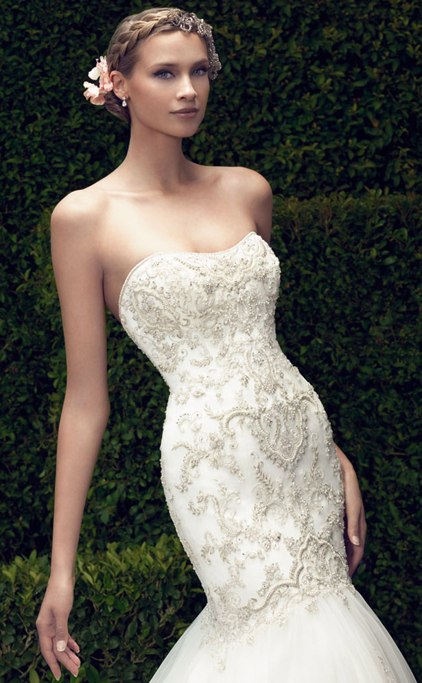 Casablanca Bridal Spring 2015 6375 closeup