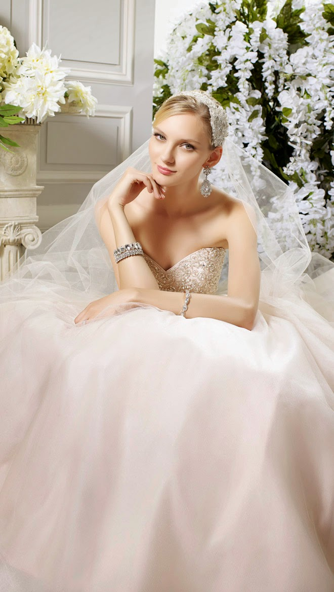 Wedding Dresses by Moonlight Bridal Spring 2015 Collection