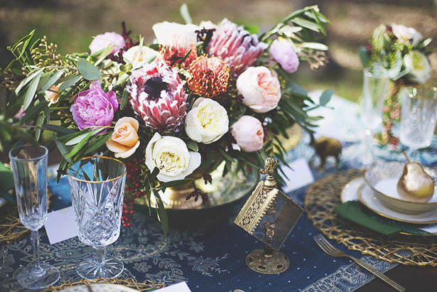 Bohemian Romance Wedding Inspiration Centerpiece