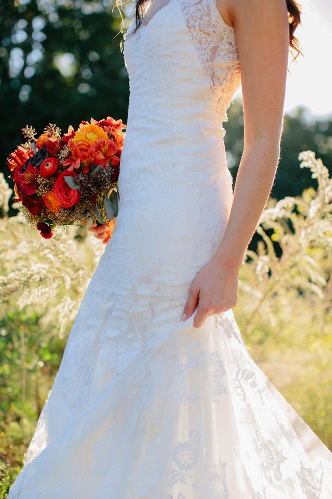 A Stunning Fall Bridal Portrait This Thanksgiving