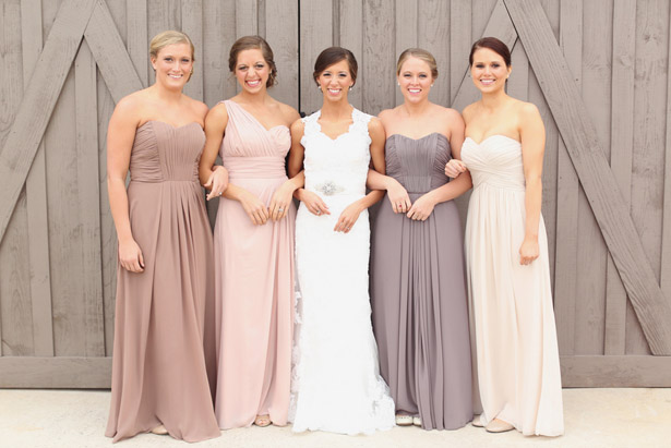 neutral mismatched bridesmiad dresses