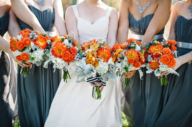 Orange and Turquoise Fall Vintage Wedding Soirée