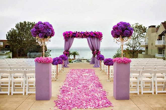Wedding Day Look: Purple Paradise