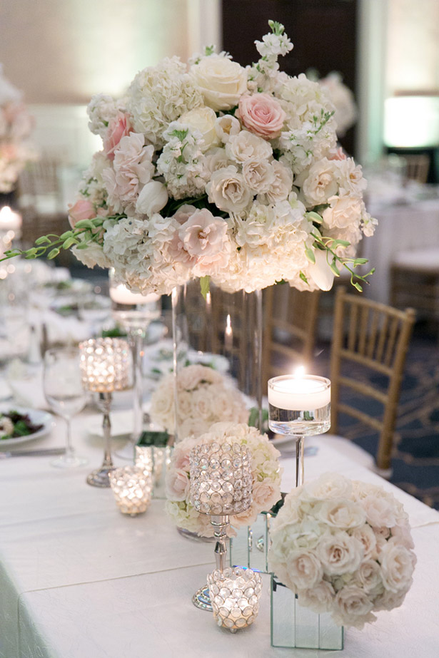Black Tie Wedding with Touches of Blush