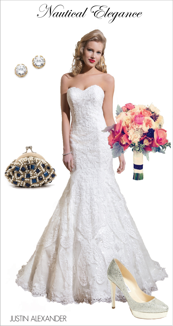 Wedding Day Look: Nautical Elegance