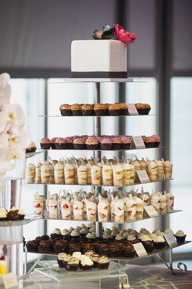 desserts tower wedding - Melvin Gilbert Photography
