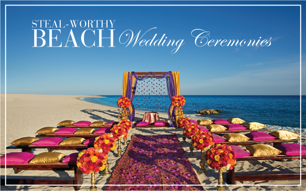 6 Steal-Worthy Beach Wedding Ceremonies