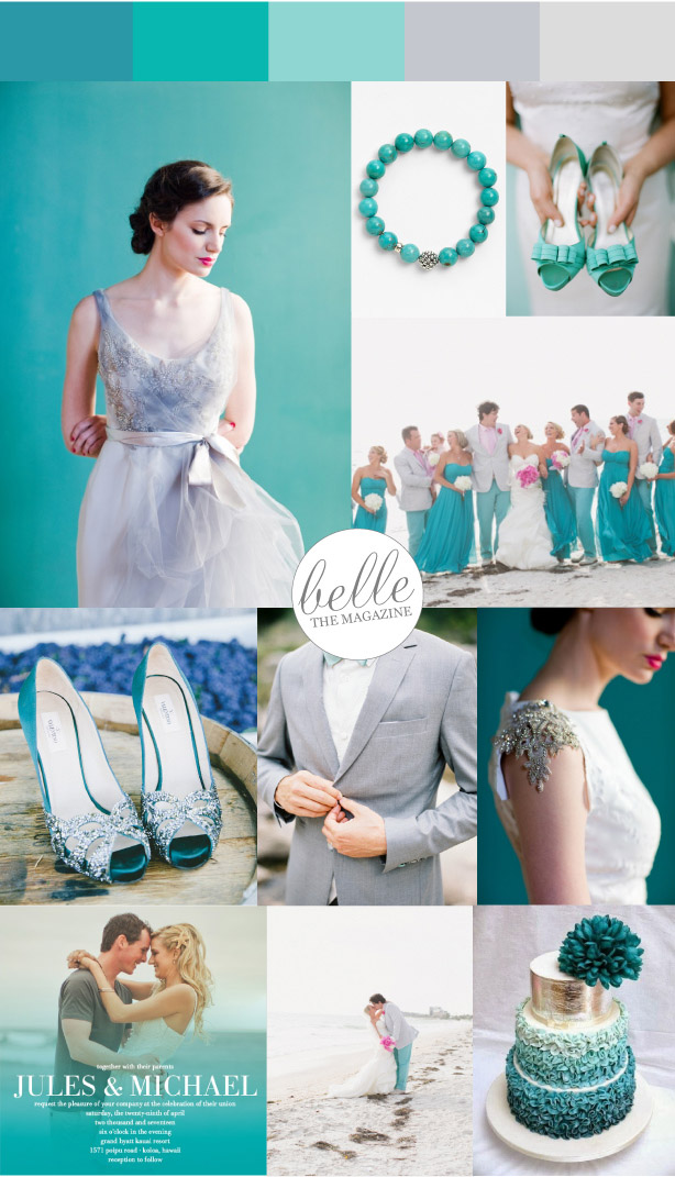 Chic and Stylish Aqua Wedding