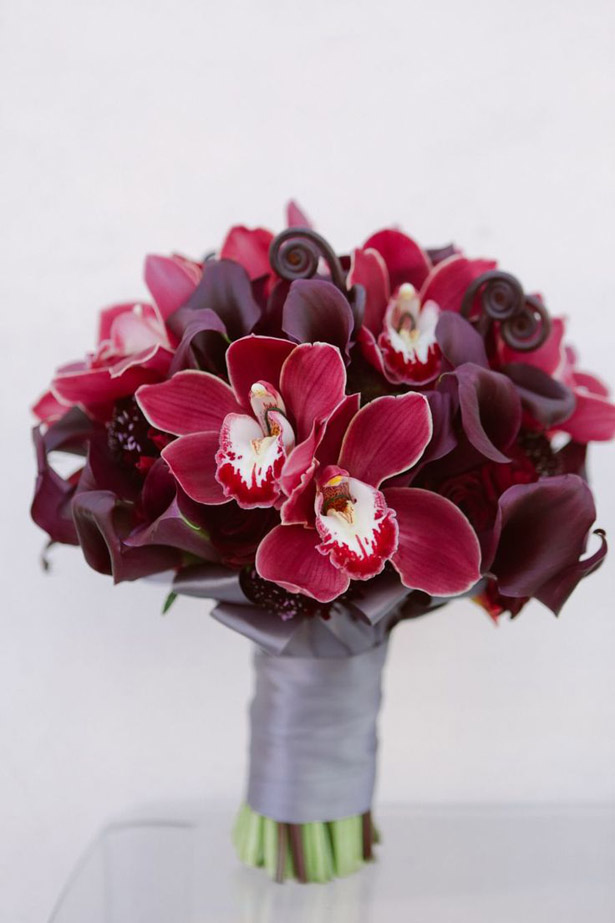 Stunning Marsala Wedding Bouquet