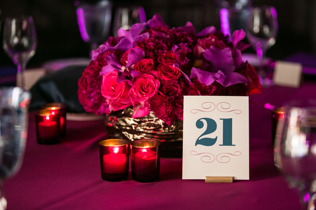 wedding-centerpiece-purple-magenta