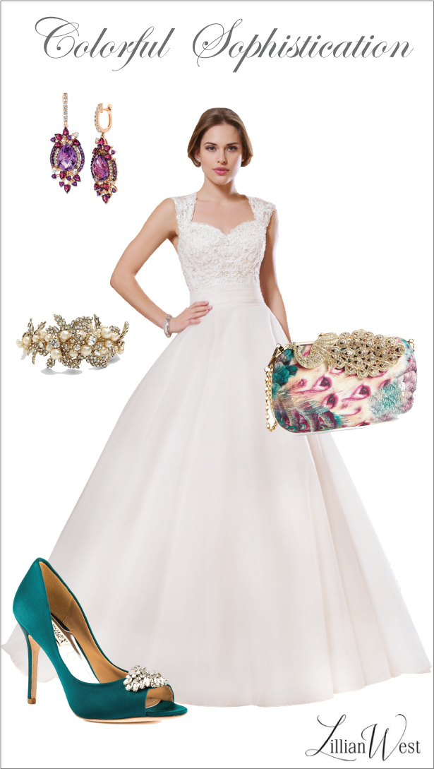 Wedding Day Look: Colorful Sophistication