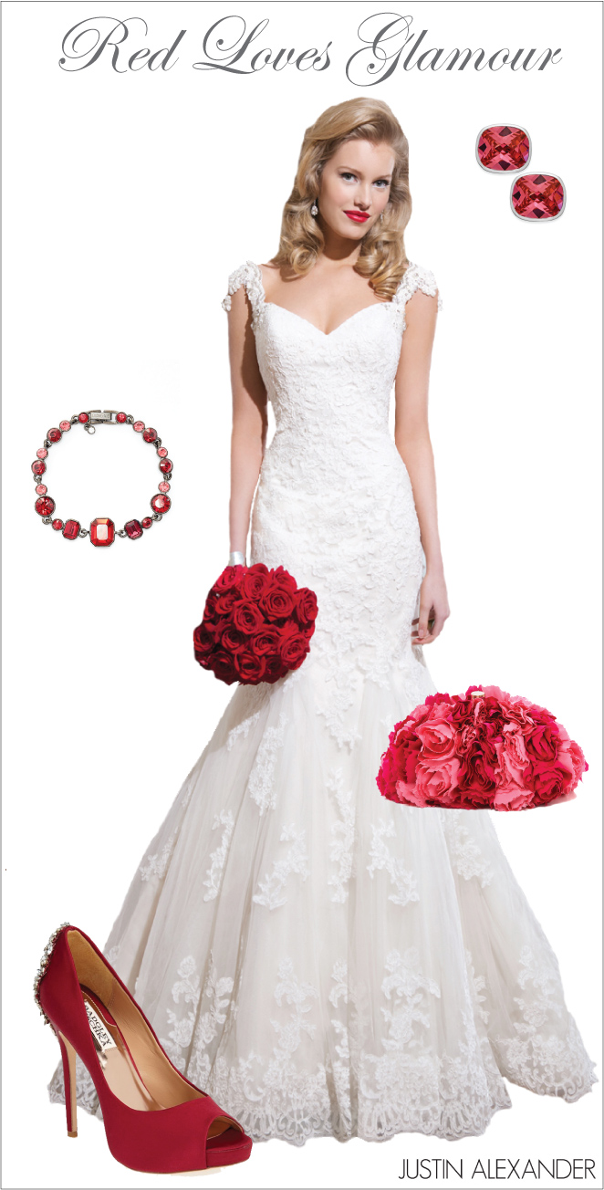 Wedding Day Look Red Loves Glamour Belle The Magazine