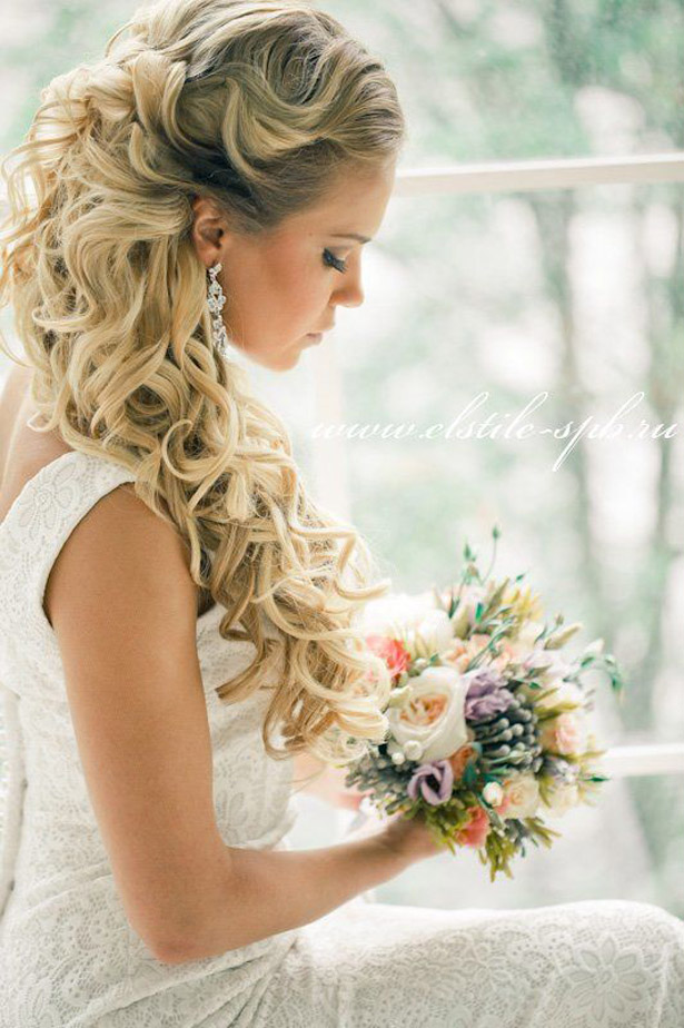 Loose Curls Wedding Hair