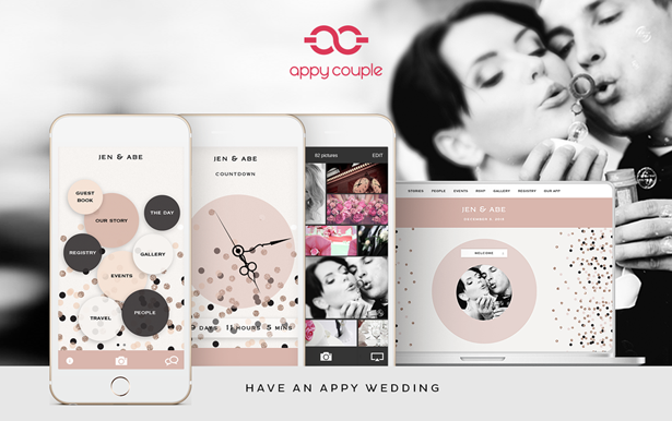 Appy Couple Stylish Wedding Websites & Apps + Discount