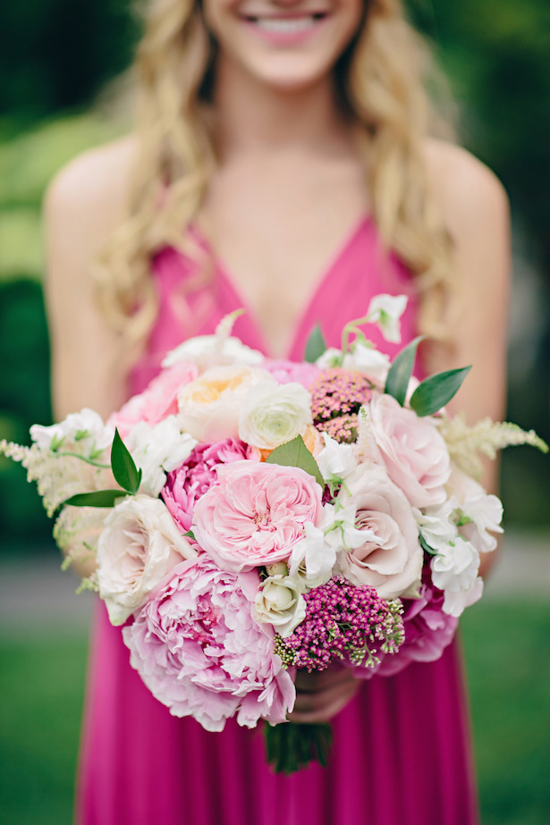Shades of pink Wedding Bouquet}