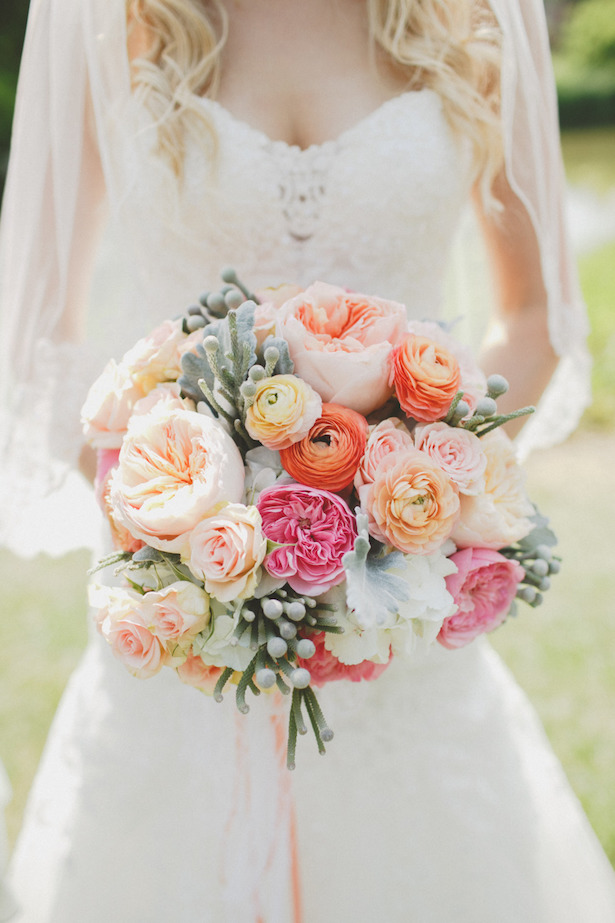 Peach Wedding Bouquets