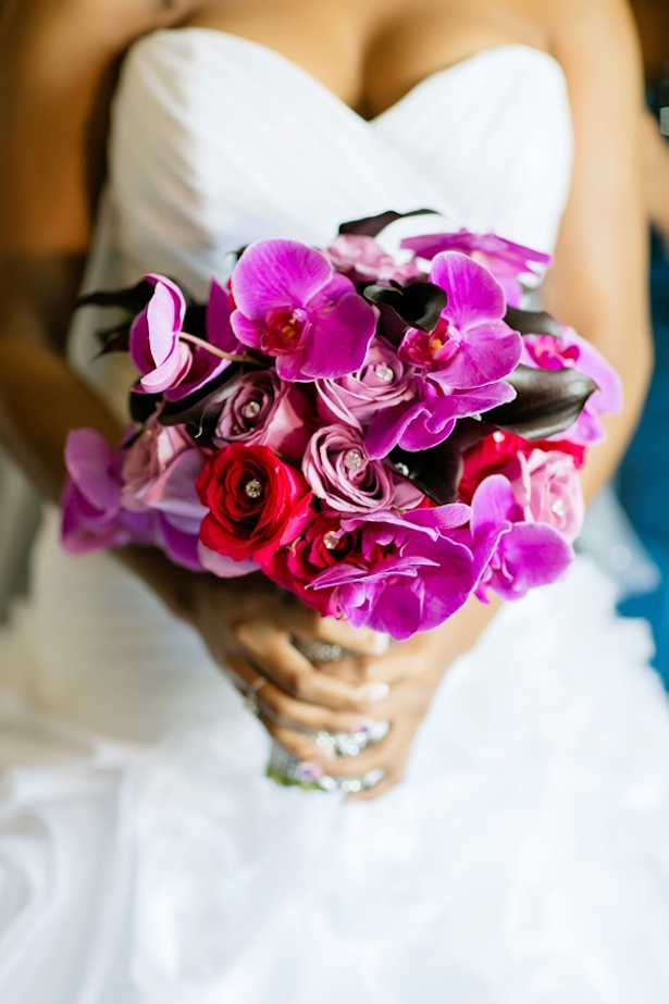Fuscia Wedding Bouquet,