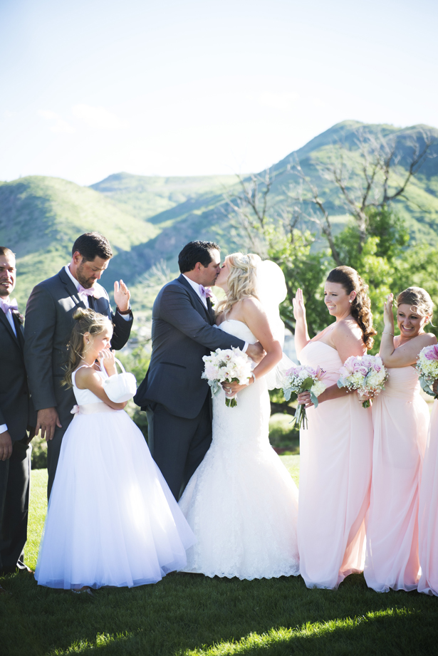 A Lavish Rose Colored Wedding