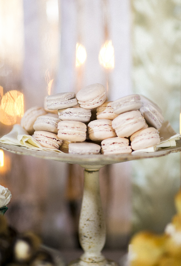 Blush Wedding Macaroons
