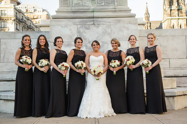 Black Lace bridesmaid Dresses