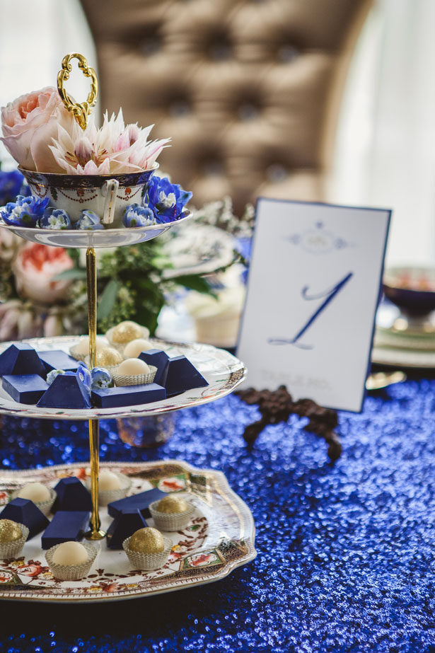 Royal Blue and Gold Wedding Ideas Belle The Magazine