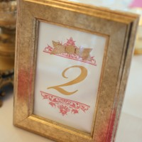 Wedding table number - Will Pursell Photography