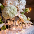 Luxury white wedding centerpieces