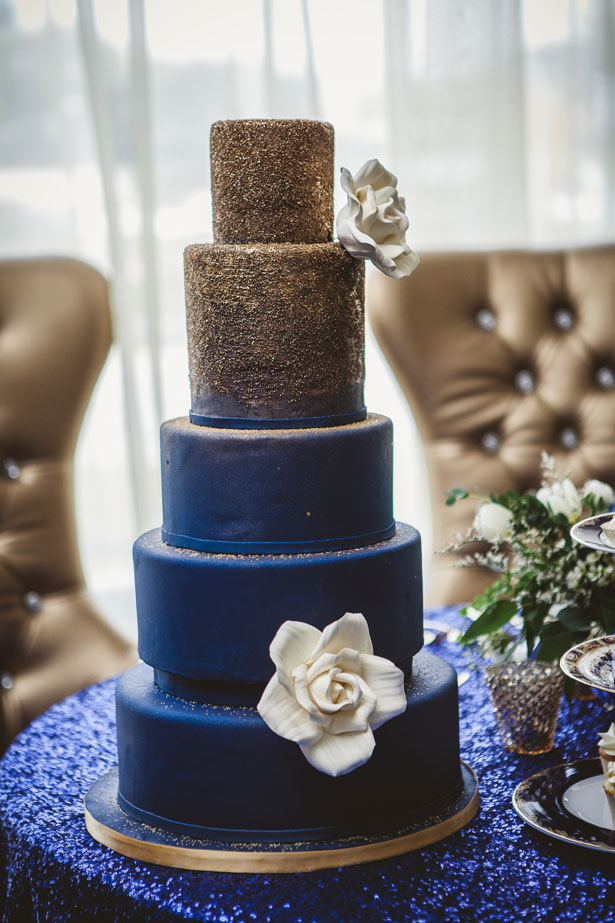 navy blue and purple wedding cakes vintage meets glam wedding inspiration the magazine 17759