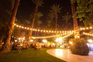 Outdoor wedding lights - Andy Rodriguez Photography