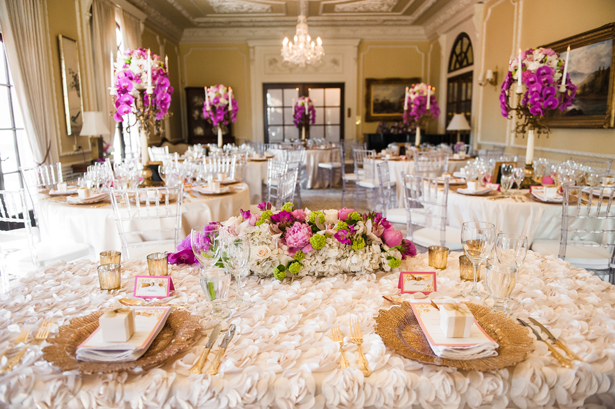 Lavish and colorful wedding reception