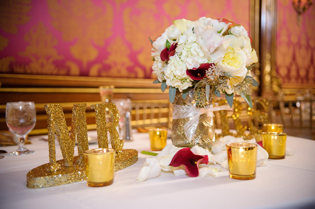 Gold glitter wedding datils