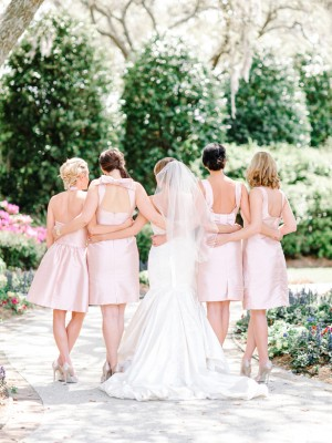 Blush Bridesmaid Dresse   ~ Pasha Belman Photographys by Alfred Sung