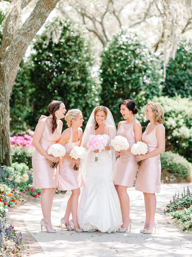 Blush Bridesmaid Dresses by Alfred Sung