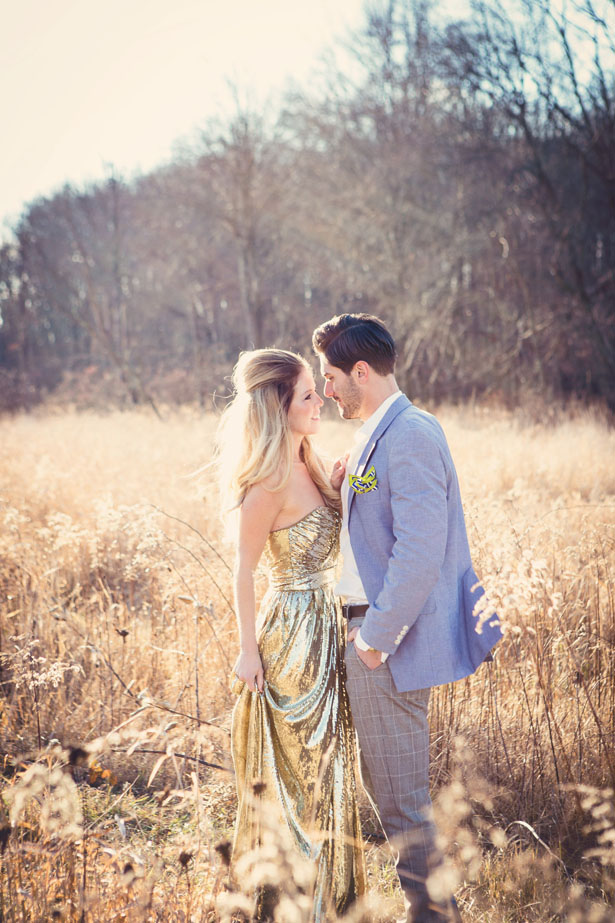 Glamorous and Casual Engagement Session