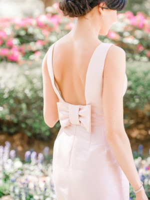 Blush Bridesmaid Dress by Alfred Sung