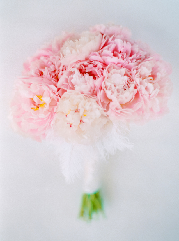Pink Peonies Wedding Bouquet