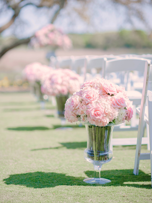Pink Wedding Ceremony Flowers   ~ Pasha Belman Photography
