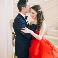 A Crimson Red Wedding Dress to Remember