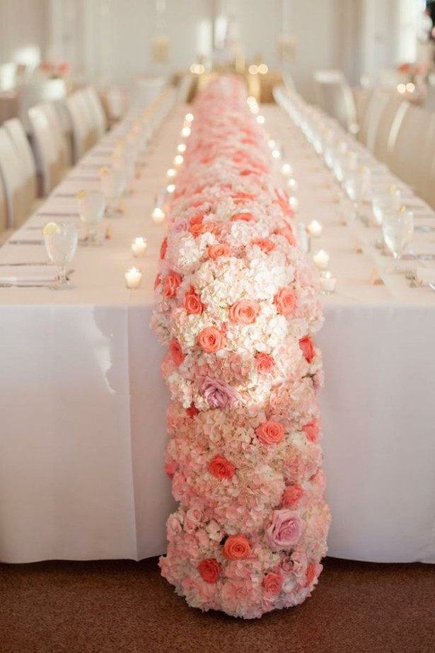 Beautiful Cascading Wedding Centerpiece