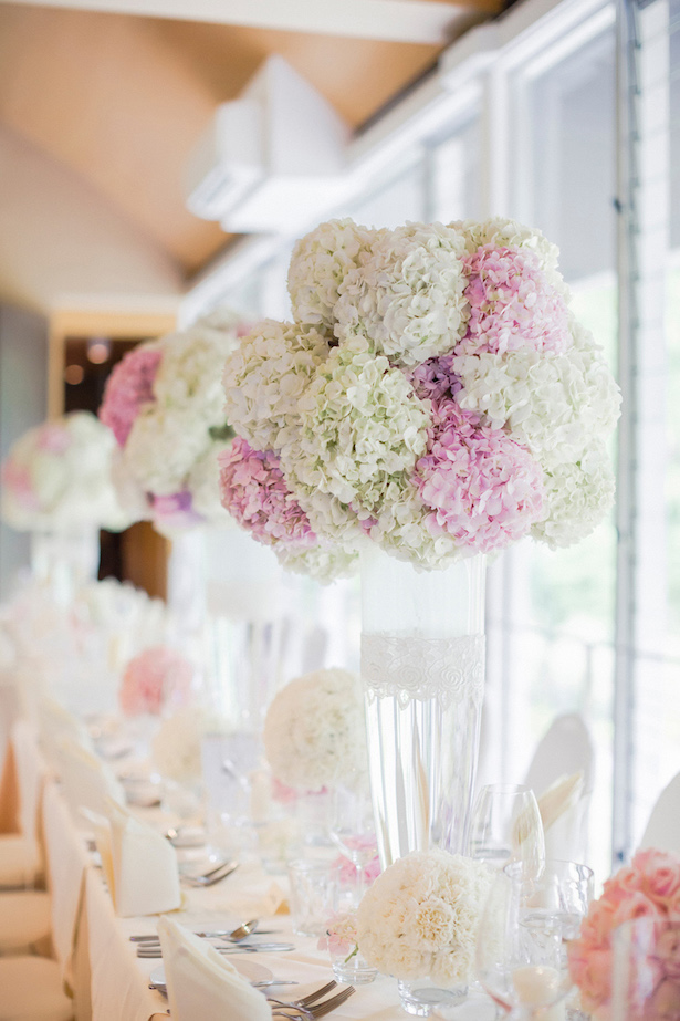 Wedding Centerpiece with lace detail