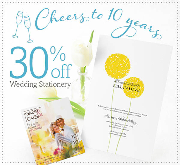 Cheers to 10 Years of Gorgeous Wedding Stationery from MagnetStreet