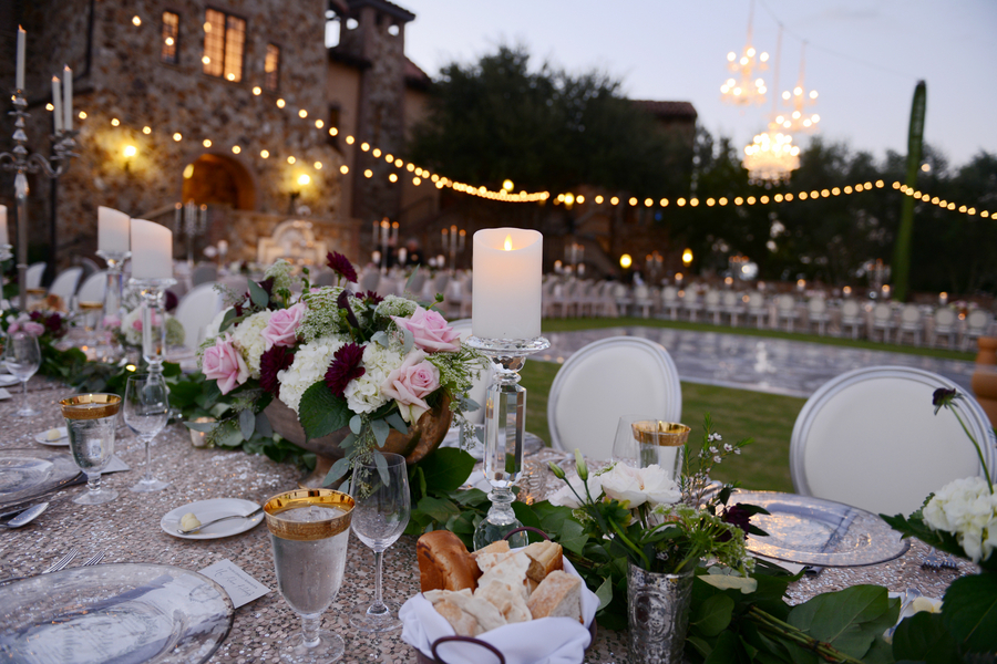 Glamorous Outdoor Wedding Reception