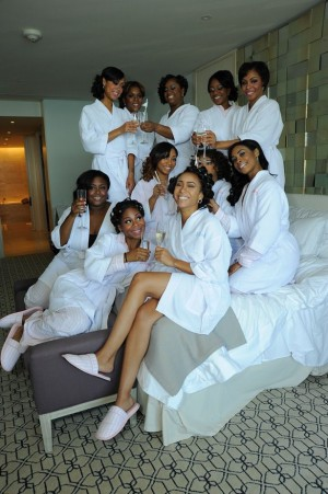 Bridemaids Getting Ready Picture ~ Artist Group Photography