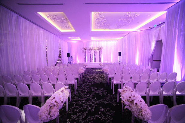 Glamorously Modern Wedding Ceremony Set-up ~ Artist Group Photography