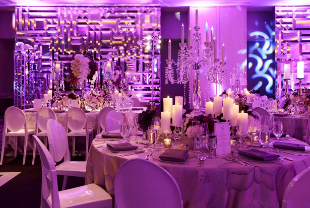 Glamorous and Modern Wedding Reception Decor